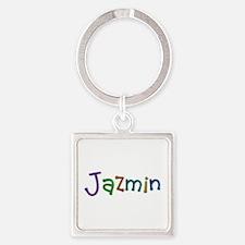 Jazmin Play Clay Square Keychain