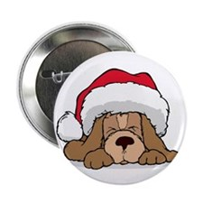 CHRISTMAS PUPPY Button