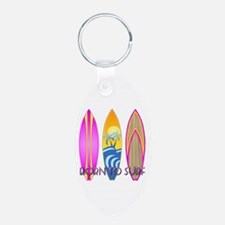 Born To Surf Pink Keychains