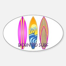 Born To Surf Pink Decal