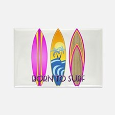 Born To Surf Pink Rectangle Magnet