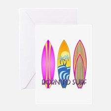 Born To Surf Pink Greeting Card