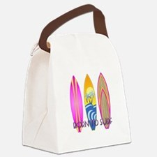 Born To Surf Pink Canvas Lunch Bag
