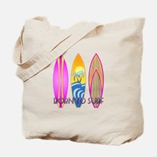 Born To Surf Pink Tote Bag