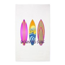 Born To Surf Pink 3'x5' Area Rug