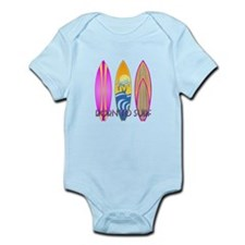 Born To Surf Pink Body Suit