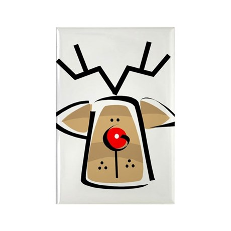 FUNKY REINDEER Rectangle Magnet