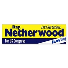 Ray Netherwood Bumper Bumper Sticker