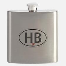 Hollywood Beach - Oval Design. Flask