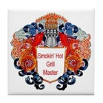 Dragon Smokin hot grill master 8 10 Tile Coaster
