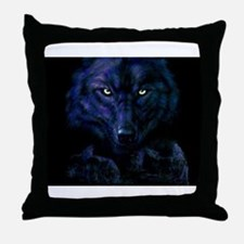 Midnight Wolf Throw Pillow