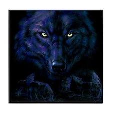 Midnight Wolf Tile Coaster