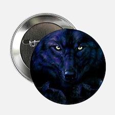 """Midnight Wolf 2.25"""" Button"""