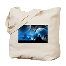 Wolf at Midnight Tote Bag