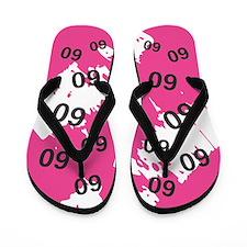 PINK 60 Years Old - 60th Birthday Flip Flops
