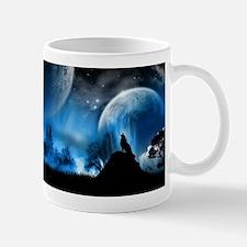 Wolf at Midnight Mug