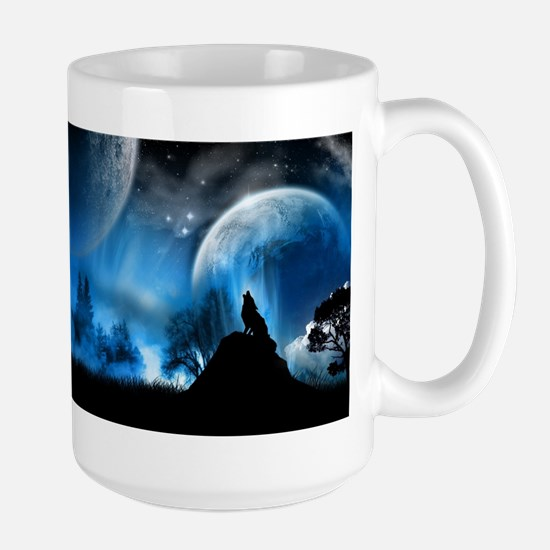 Wolf at Midnight Mug
