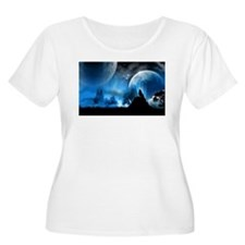 Wolf at Midnight Plus Size T-Shirt