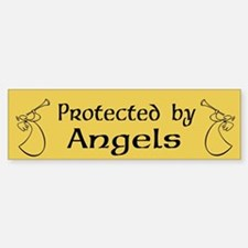 Protected by angels Sticker (Bumper)