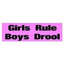 Girls Rule Custom Bumper Sticker