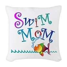Swim Mom Woven Throw Pillow