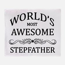 World's Most Awesome Stepfather Throw Blanket
