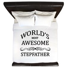 World's Most Awesome Stepfather King Duvet