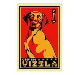 Obey the Vizsla! Postcards (Package of 8