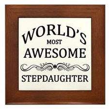 World's Most Awesome Stepdaughter Framed Tile