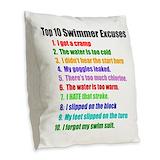Swim excuses Burlap Pillows