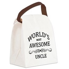 World's Most Awesome Uncle Canvas Lunch Bag