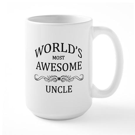 World's Most Awesome Uncle Large Mug