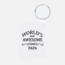 World's Most Awesome Papa Keychains