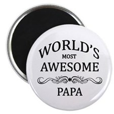 "World's Most Awesome Papa 2.25"" Magnet (10 pack)"