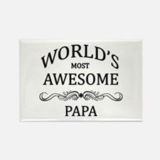 World's Most Awesome Papa Rectangle Magnet