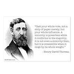 Thoreau on Minority Political Power Postcards