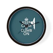 Keep Calm and Climb On Wall Clock