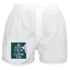 Keep Calm and Climb On Boxer Shorts
