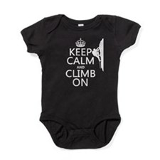 Keep Calm and Climb On Baby Bodysuit