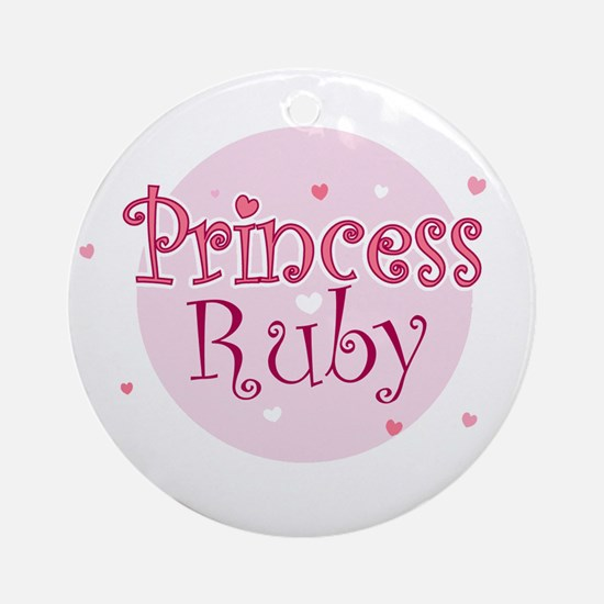 Ruby Ornament (Round)
