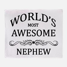 World's Most Awesome Nephew Throw Blanket