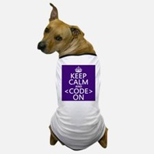 Keep Calm and Code On Dog T-Shirt