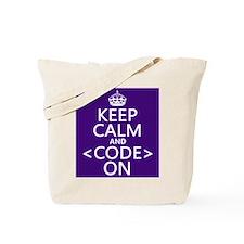Keep Calm and Code On Tote Bag
