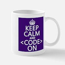Keep Calm and Code On Small Mug