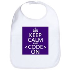 Keep Calm and Code On Bib