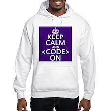 Keep Calm and Code On Jumper Hoody