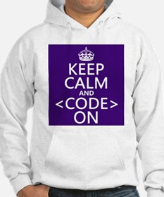 Keep Calm and Code On Jumper Hoody