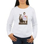 My Pit Bull is Family Women's Long Sleeve T-Shirt