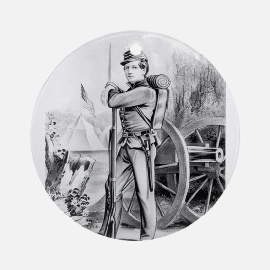 The soldier boy - on duty - 1864 Round Ornament
