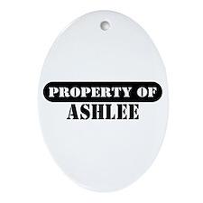 Property of Ashlee Oval Ornament